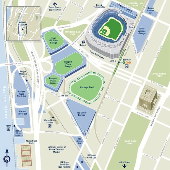 New York Yankees Stadium Map