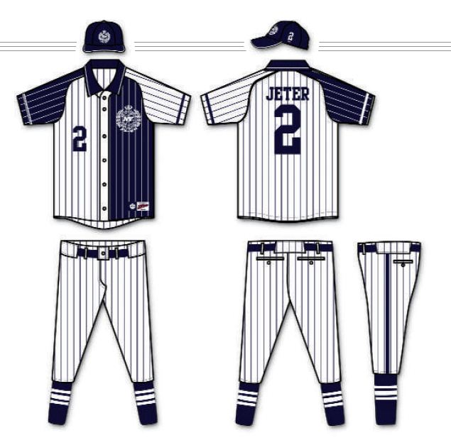 timeless design 169a5 1a224 Yankees Redesigned Uniforms