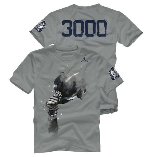 429e8fb0b3e Jordan Brand has unveiled the designs for its DJ3K commemorative t-shirt.  As Derek Jeter ...