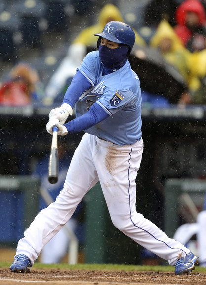 The Yankees have no chance if the Royals have a ninja in their lineup. (Ed Zurga/Getty)