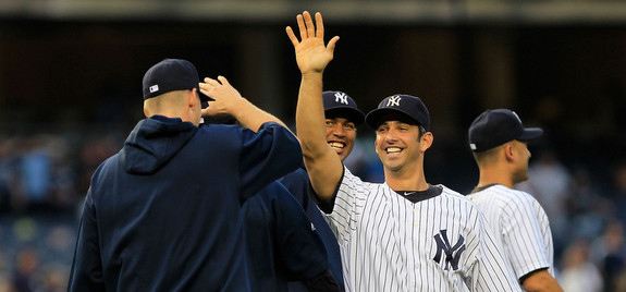 It's a Jorge Posada kind of day. (Chris Trotman/Getty)