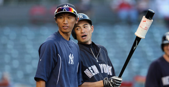 Katoh worked out with the Yankees soon after the draft. (Jeff Gross/Getty)