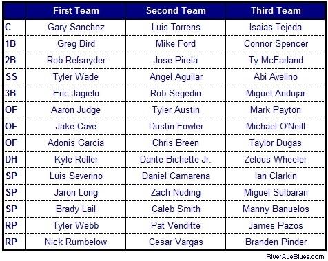 2014 Minor League Award Teams