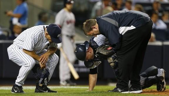 Catchers, man. (Rich Schultz/Getty)
