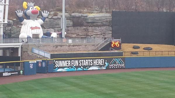 Pace of play clocks are up at PNC Field in Scranton. (RailRiders)