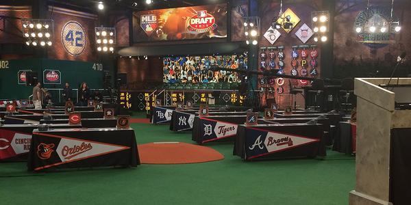The MLB Network studio is ready. (Photo via @MLBDraft)
