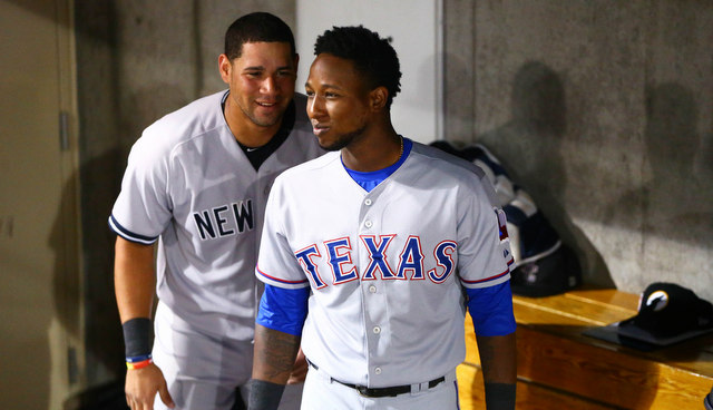 Profar and Gary Sanchez are AzFL buddies. (Presswire)