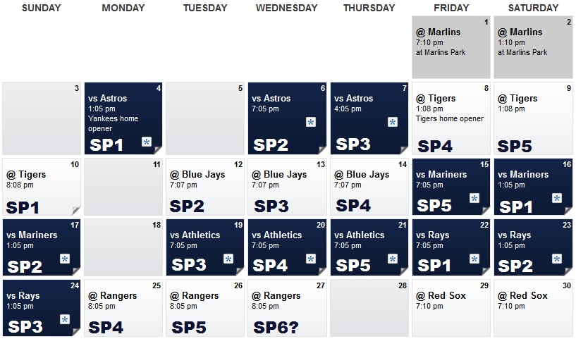 April rotation schedule