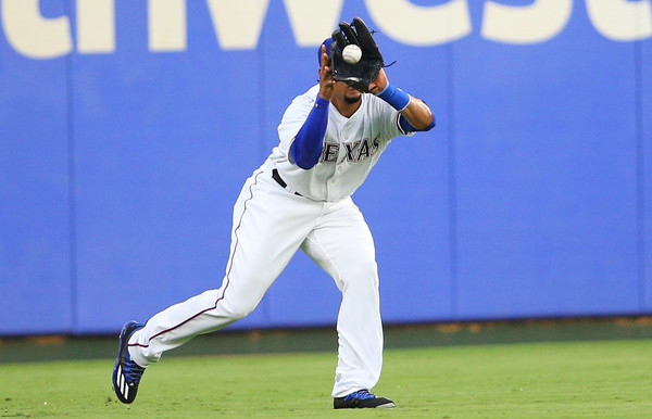 Mystery Rangers outfielder. (Rick Yeatts/Getty)