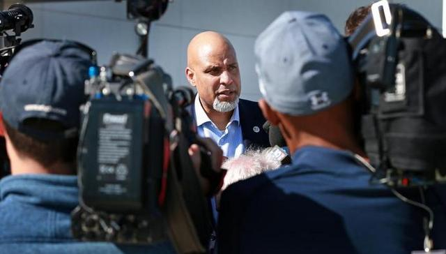 MLBPA chief Tony Clark. (Boston Globe)