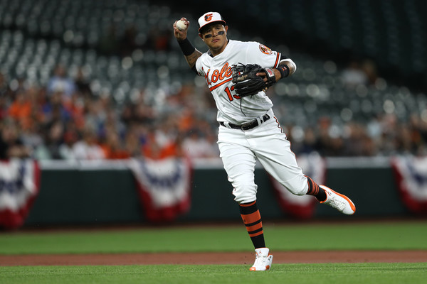 Future Yankee Manny Machado. (Patrick Smith/Getty Images North America)