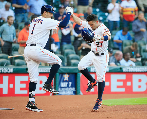 Correa and Altuve. (Scott Halleran/Getty Images North America)