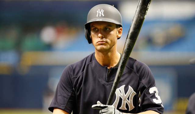 Apr 4, 2017; St. Petersburg, FL, USA; New York Yankees first baseman Greg Bird (33) works out during batting practice prior to the game against the Tampa Bay Rays at Tropicana Field. Mandatory Credit: Kim Klement-USA TODAY Sports