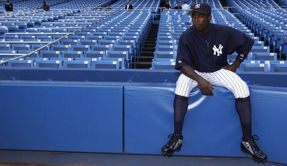 Soriano is back in pinstripes. (Getty)