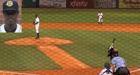 Not many photos of Mr. Severino out there. (ABC News 4 Charleston and MiLB.com)