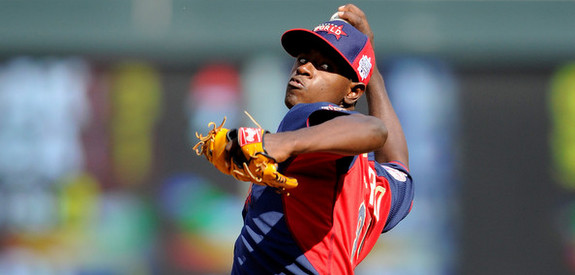 Severino at the 2014 Futures Game. (Hannah Foslien/Getty)