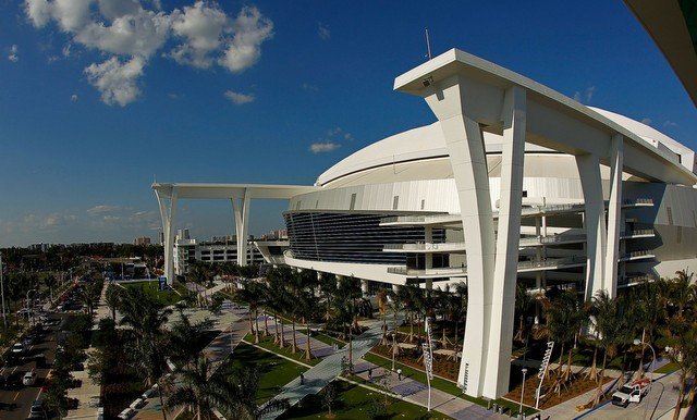 The Marlins play in a space ship. (Mike Ehrmann/Getty Images)