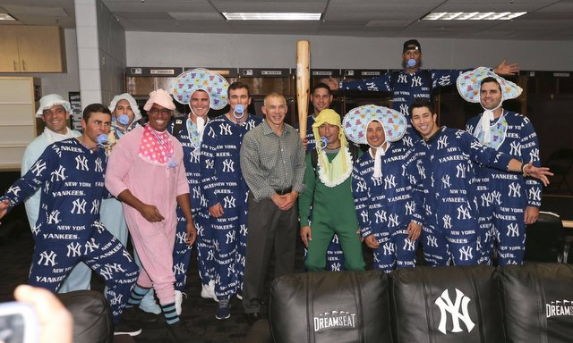 This year's rookie hazing theme: Baby Bombers! (@Yankees)