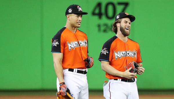 Stanton and Harper. (Rob Carr/Getty)