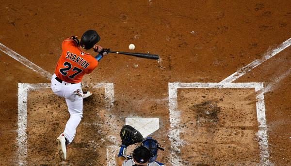 That poor baseball. (Mark Brown/Getty)